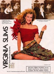 1989 ad for Virgina Slims cigarettes