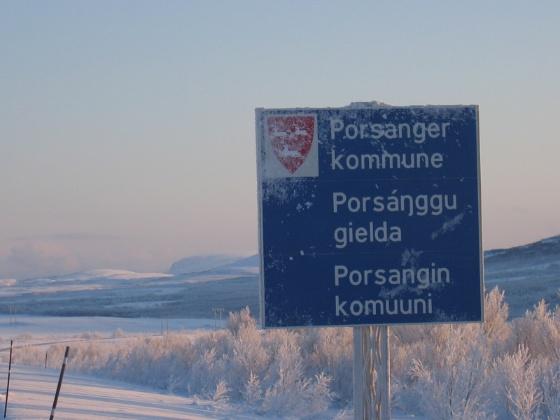 Porsanger kommuneskilt.jpg (Bredde: 560px)