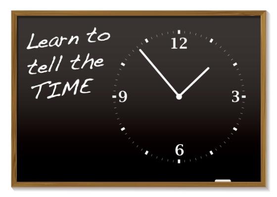 skolebilde klokke tavle