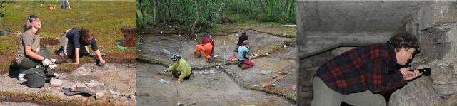 Arkeologer på utgraving