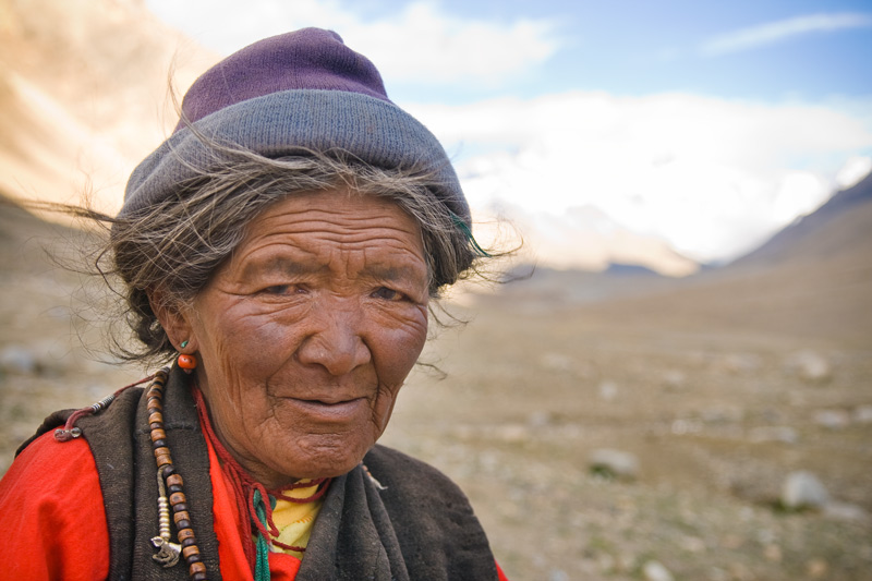 Kvinne fra Tibet
