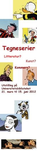 Plakat med ulike tegneseriefigurer