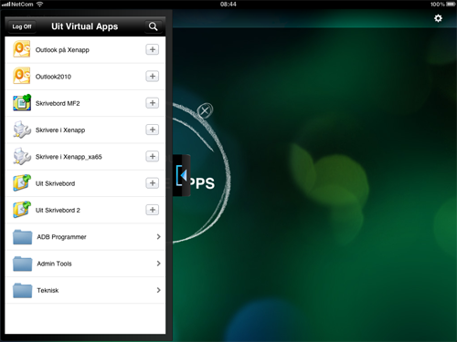 access desktop application from iphone