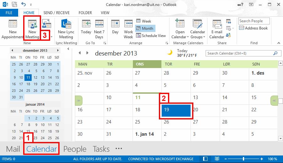 Outlook 2016 M 248 Te Og Romreservasjon Uit