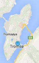 Kart over Tromsø