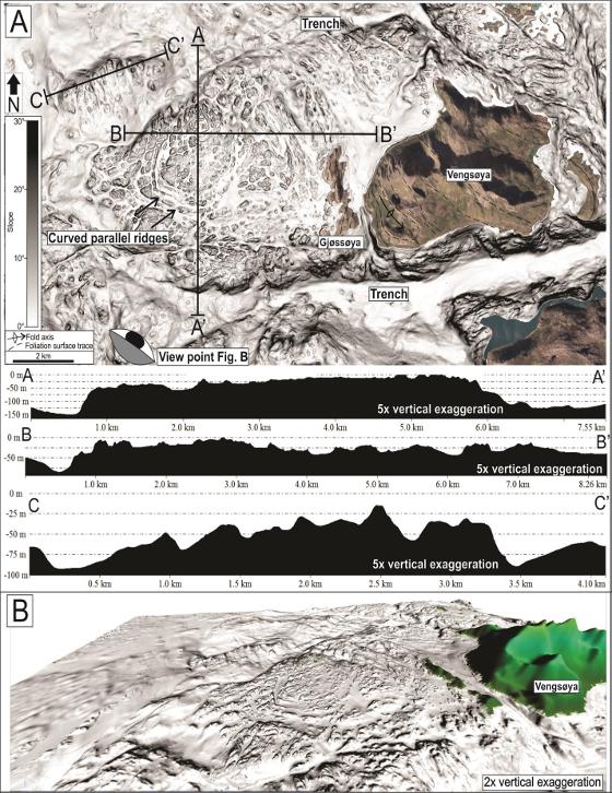 3D kart av havorådet rundt Vengsøya