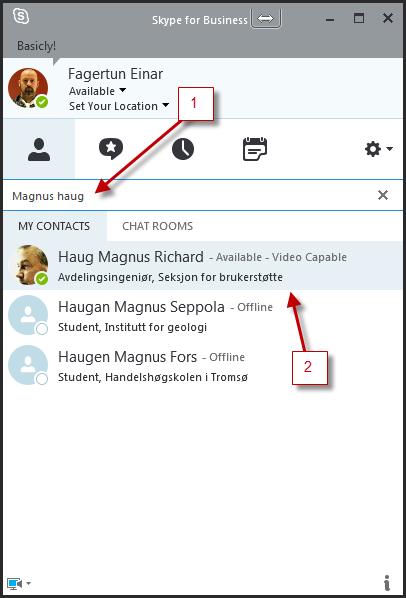 Skype for Business (tidl. Lync) | UiT