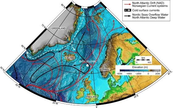 Sea Floor Elevation Data : Historic climate data stored on the ocean floor in