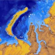 Kart over pingo-funn i Sibir
