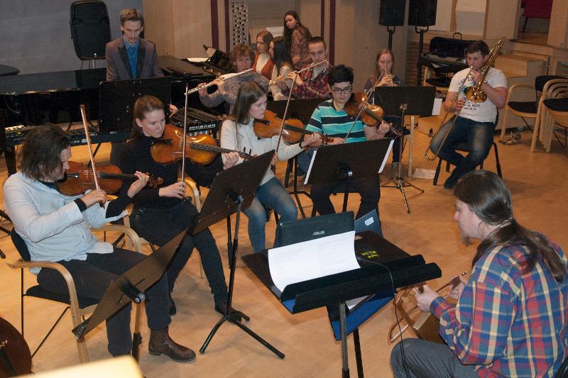 På svært kort tid hadde musikerne øvd inn musikk til det som ble en flott konsert.