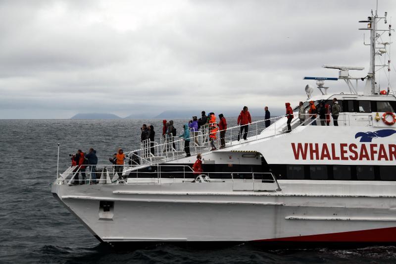 De to forskerne har studert hvordan hvalsafari foregår på Island. Foto: Berit Kristoffersen