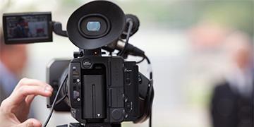 nærbilde av videokamera