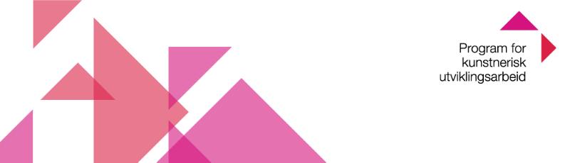 Logo for program for kunstnerisk utvikling