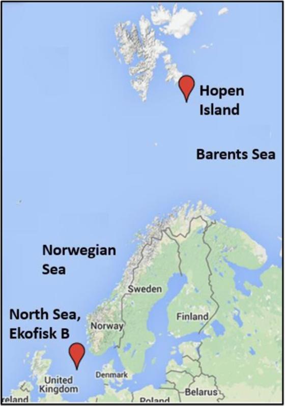 oljeplattformer kart Har modellert hvordan arktisk klima kan påvirke drift og  oljeplattformer kart