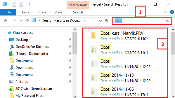 search box in file explorer
