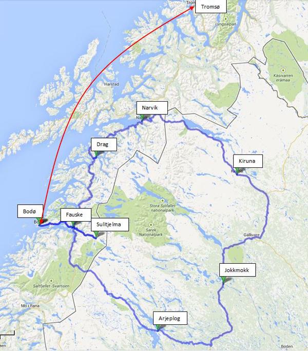 jokkmokk kart Brennpunkt nord: Ekskursjon til Nordland fylke og Norrbottens län  jokkmokk kart