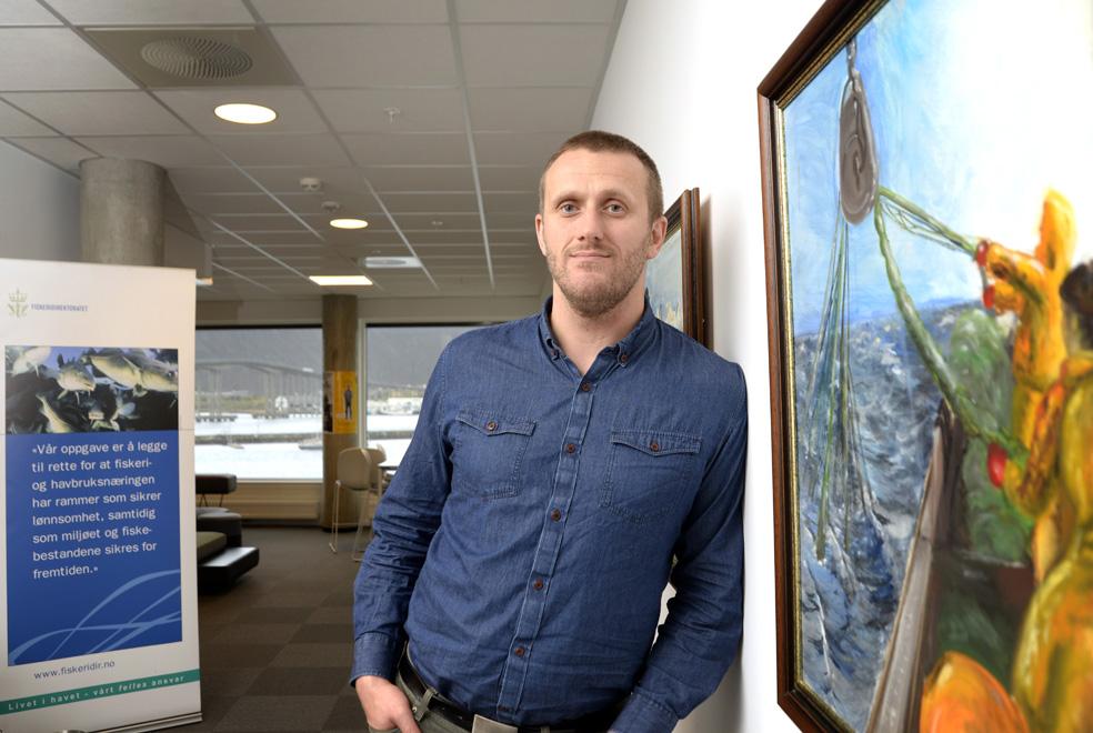 Christian Roll Valen i korridorene til Fiskeridirektoratet