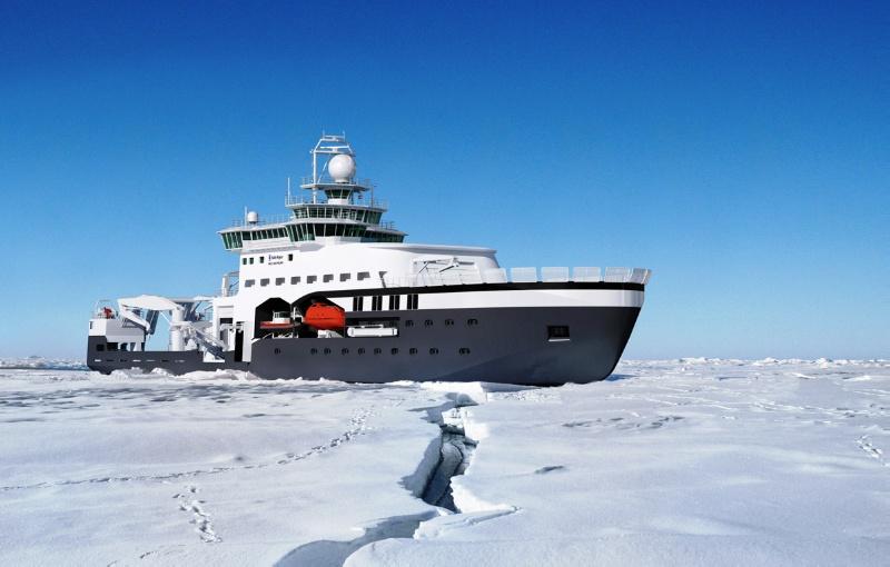 Det isgående forskningsfartøyet Kronprins Haakon blir bygget i Italia og skal døpes denne våren. Det skal være i drift fra høsten 2018. Norsk Polarinstitutt, Havforskningsinstituttet og UiT Norges arktiske universitet deler eierskap, drift og bruk av båten.