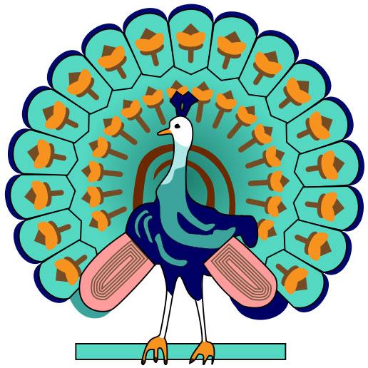 Påfulg-symbolet var tidligere mye brukt i Myanmar