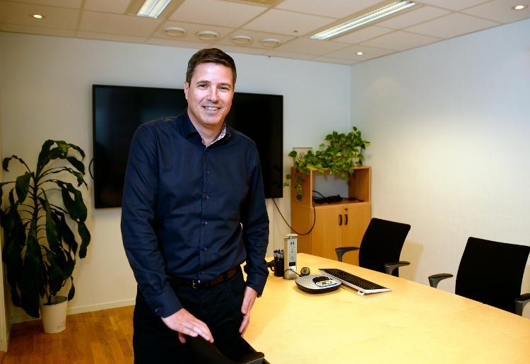 Lars-André Hanssen på kontoret