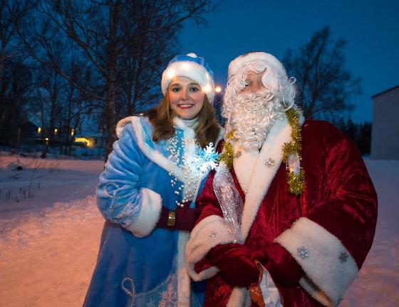 Snøprinsessa og julenissen