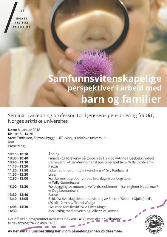 program seminar samfunnsvitenskapelige perspektiver