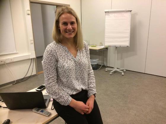 Stipendiat Line H. Evensen presenterte en studie hun jobber med som tar for seg regelmessig fysisk aktivitet og risikoen for venøs blodpropp når det kommer til tilbakefall og dødelighet.