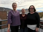 Kelly A. Frazer, Terry Solomon og Erin N. Smith på besøk i Tromsø, TREC.