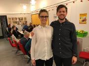 Ludvig og Birgit etter forskerlinjeeksamen, TREC