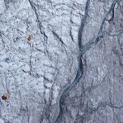 Den mørke sonen av isdekket på Grønland. Foto: J. Ryan/J. Box/A.Hubbard