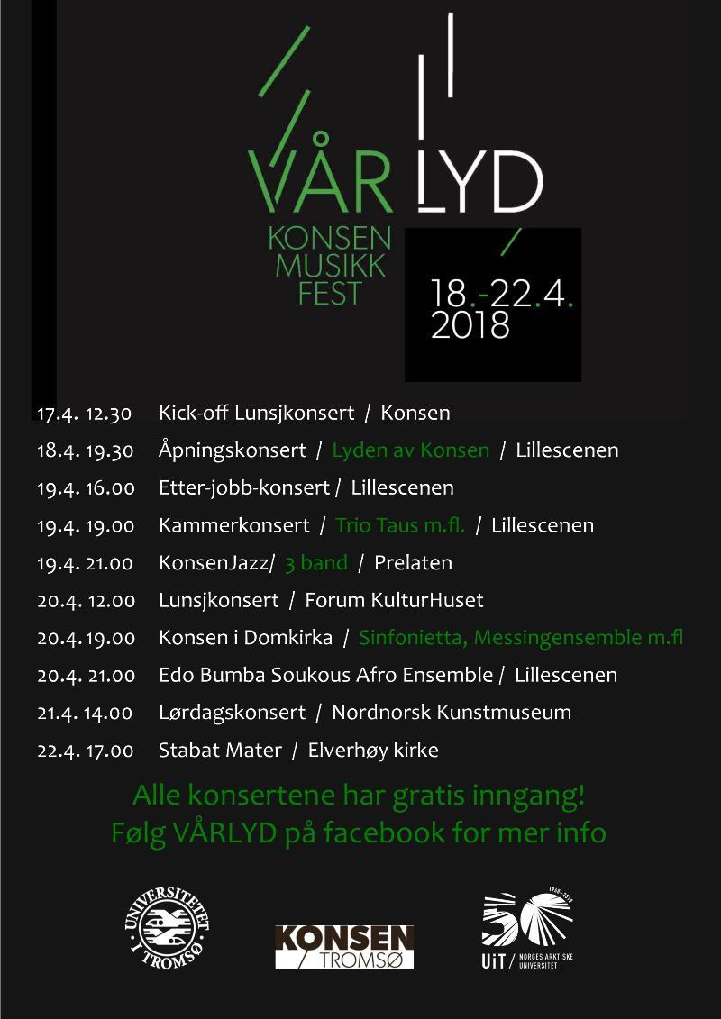 Plakat for Vårlyd - Konsen Musikkfest
