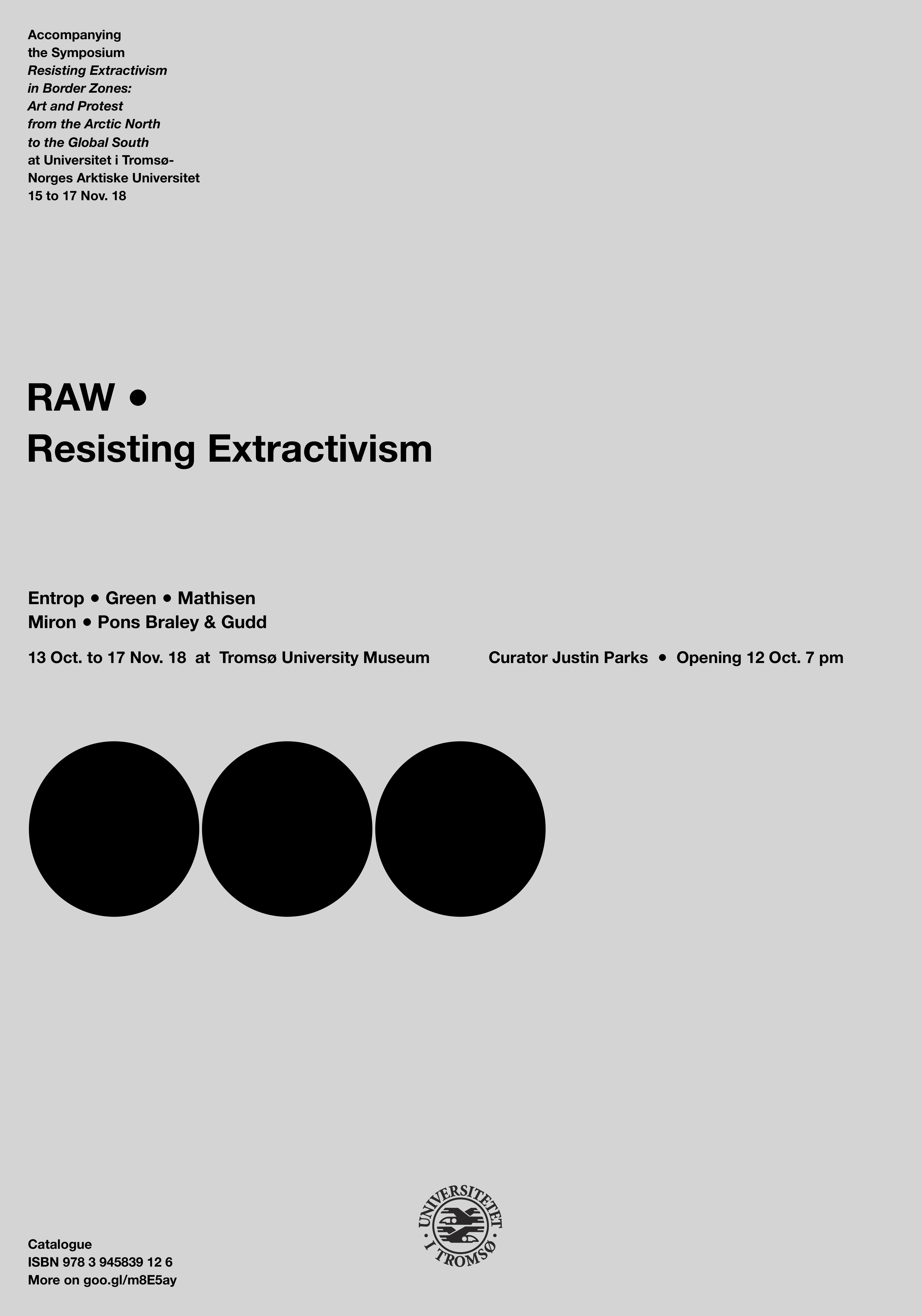 Plakaten til utstillinga RAW