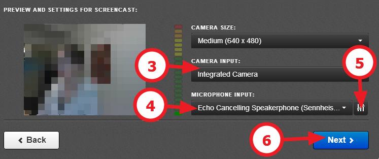 innstillinger for kamera og mikrofon