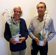 Bjarne Østerud (t.v.) og Jan Ole Olsen, UiT, Helsefak