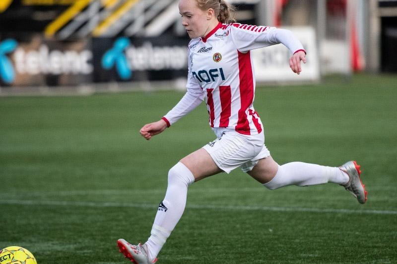 Football player Ina Birkelund. Photo: Gry Berntzen
