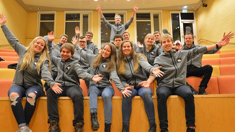 Studenter i forelesningssal. Foto: Espen Viklem Eidum