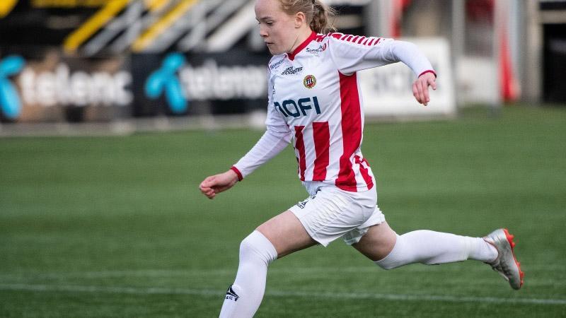 Football player Ina Birkelund. Photo: Gry Berntzen