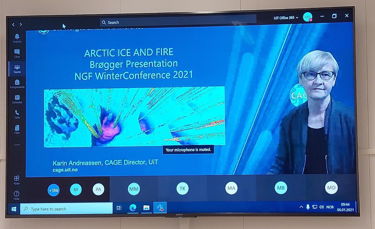 Karins prisforedrag på Vintermøtet
