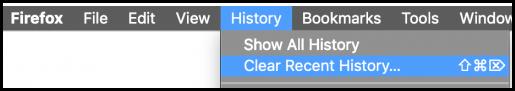 Skjermbilde slett cache med Firefox ved å bruke Clear Recent History
