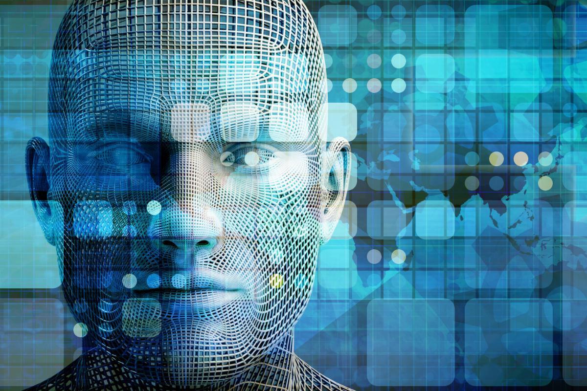 Illustrasjon av datamodellert ansikt