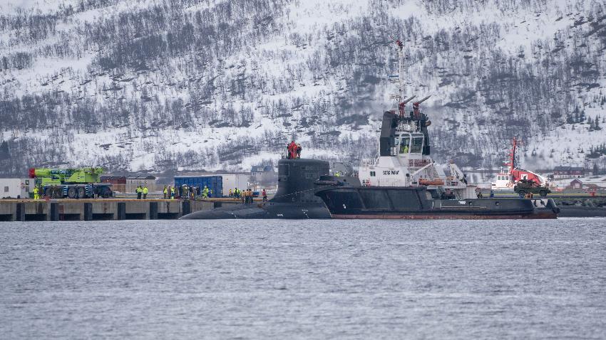 En amerikansk atomubåt ble den første som besøkte den nye atomubåthavna i Tromsø.