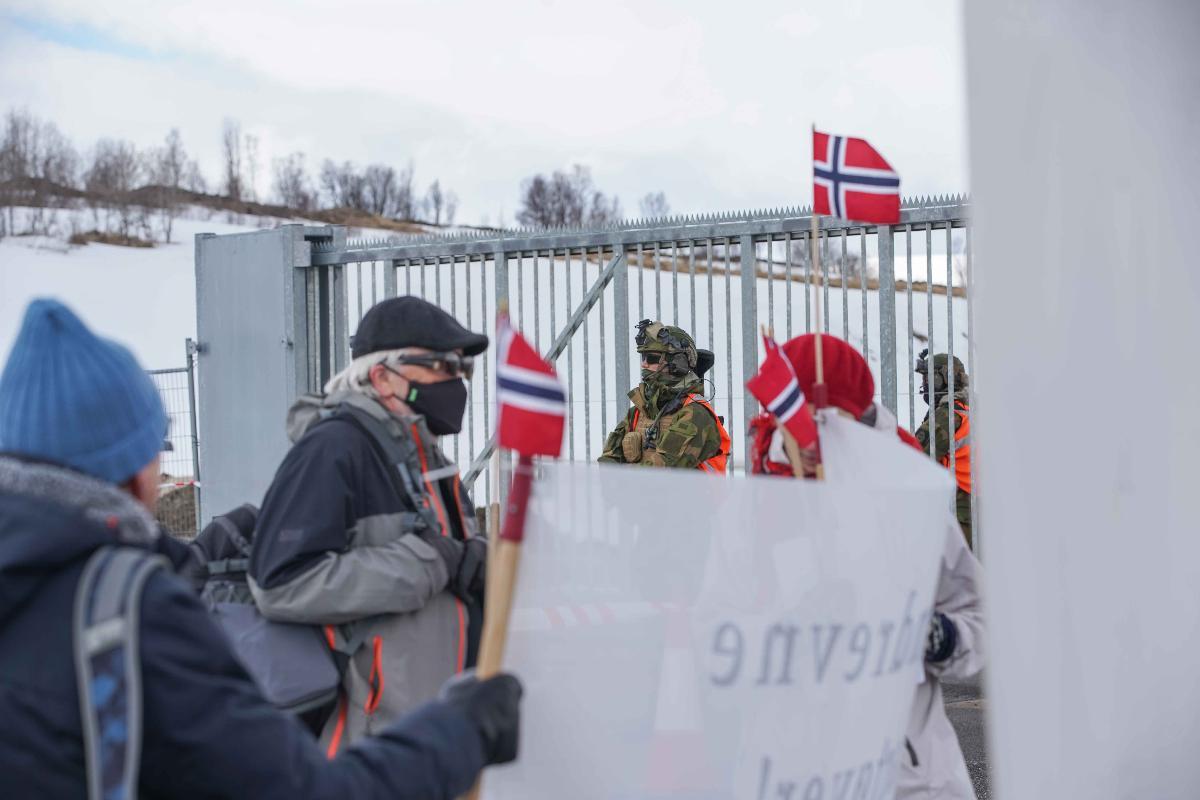 Den nye atomubåthavna har skapt protester i Tromsø.