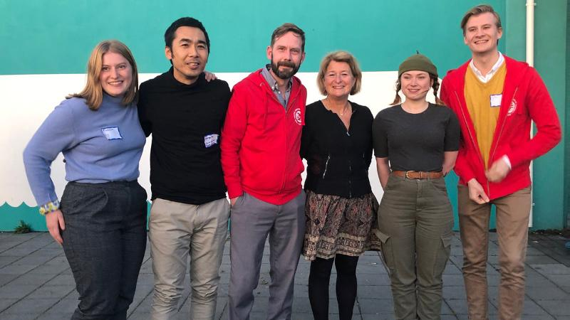 Anne Husebekk with students during the Arctic Circle conference in 2019. Photo: Sigrid Ag / UiT