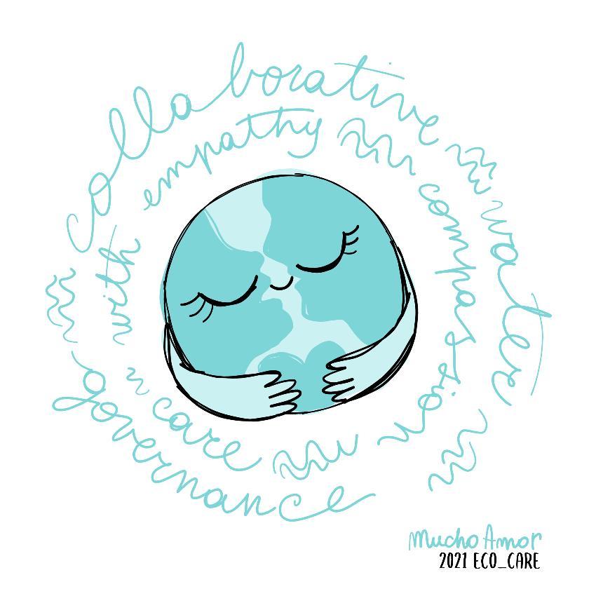 Logoen til ECO-CARE-prosjektet, det er en tegning.