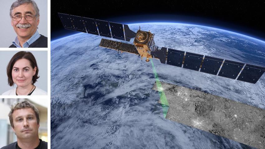 Portretter og satelitt for jordobservasjon