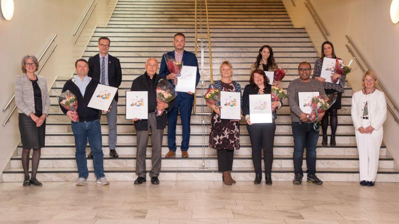 Vinnerne av UiTs sentrale priser 2021. Foto: Jonatan Ottesen/UiT