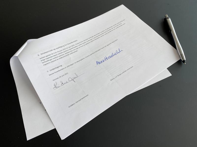 Signert avtale