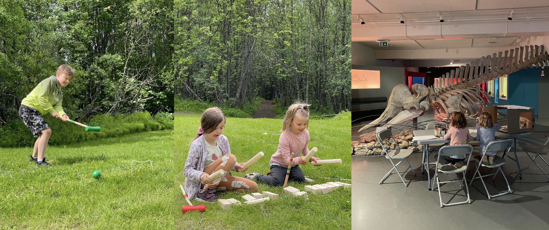 I sommer tilbyr vi aktiviteter både inne og ute
