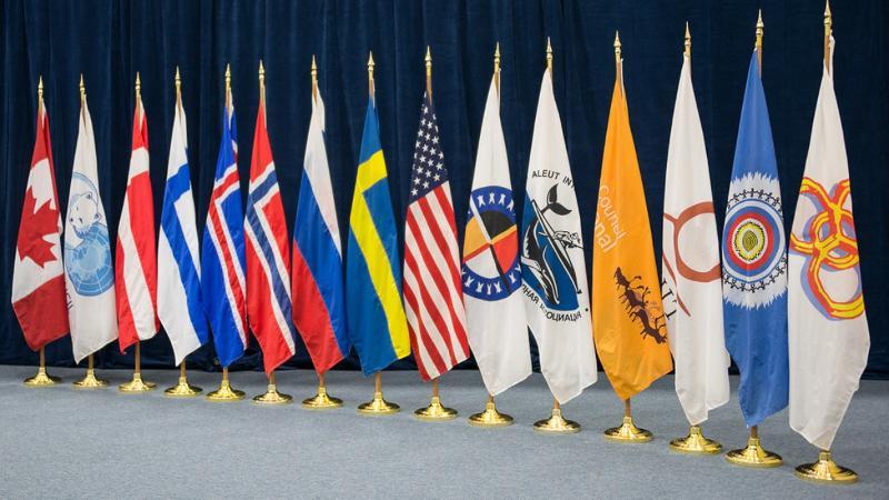 Arktisk råds flagg. Foto: Linnea Nordström
