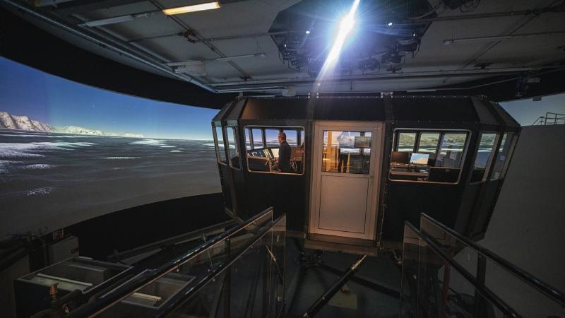 UiTs skipssimulator. Foto: David Jensen/UiT